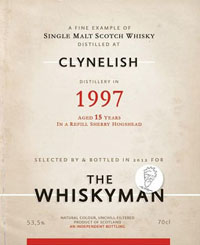 Clynelish 1997 - The Whiskyman 2012